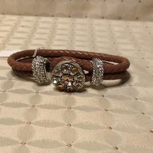 GANZ  Genuine Leather Bracelet